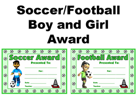 Soccer/Football Boy and Girl Awards | Other Files | Documents and Forms