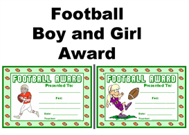 Football Boy and Girl Award | Other Files | Documents and Forms