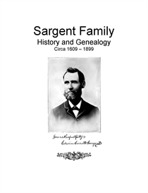 Sargent Family History and Genealogy | eBooks | History