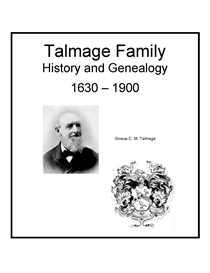Talmage Family History and Genealogy | eBooks | History