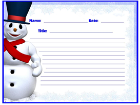 Frosty The Snowman Winter Stories Stationery Set | Other Files | Documents and Forms