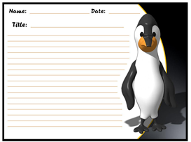 Penguin Chill Out and Read Our Stories Stationery Set | Other Files | Documents and Forms