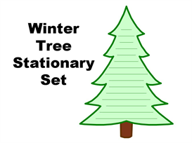 Winter Tree Stationery Set | Other Files | Documents and Forms