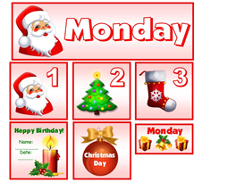 December Christmas Theme Calendar Set | Other Files | Documents and Forms