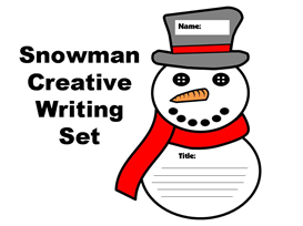 snowman creative writing templates set