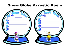 Snow Globe Acrostic Poem Set | Other Files | Documents and Forms