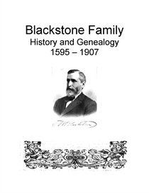 Blackstone Family History and Genealogy | eBooks | History