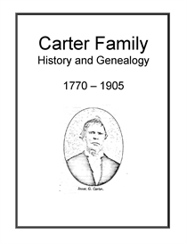 Carter Family History and Genealogy | eBooks | History