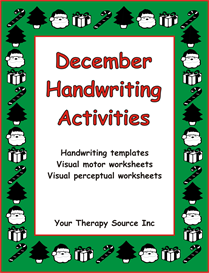 December Handwriting Activities | eBooks | Education