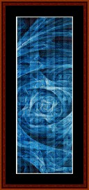 fractal 247 bookmark cross stitch pattern by cross stitch collectibles