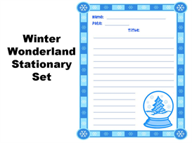 Winter Wonderland Stationery Set | Other Files | Documents and Forms