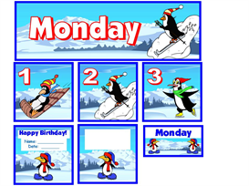 January Penguin Calendar Set | Other Files | Documents and Forms