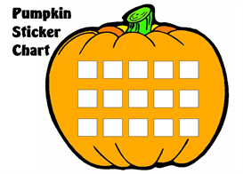 Pumpkin Sticker Chart Set | Other Files | Documents and Forms