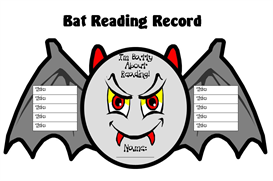 Batty About Reading Sticker Chart Set | Other Files | Documents and Forms