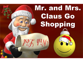 Mr. and Mrs. Claus Go Shopping Math Word Problems Powerpoint | Other Files | Documents and Forms