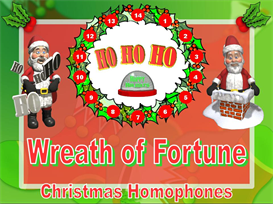 Wreath of Fortune Christmas Homophones Powerpoint | Other Files | Documents and Forms