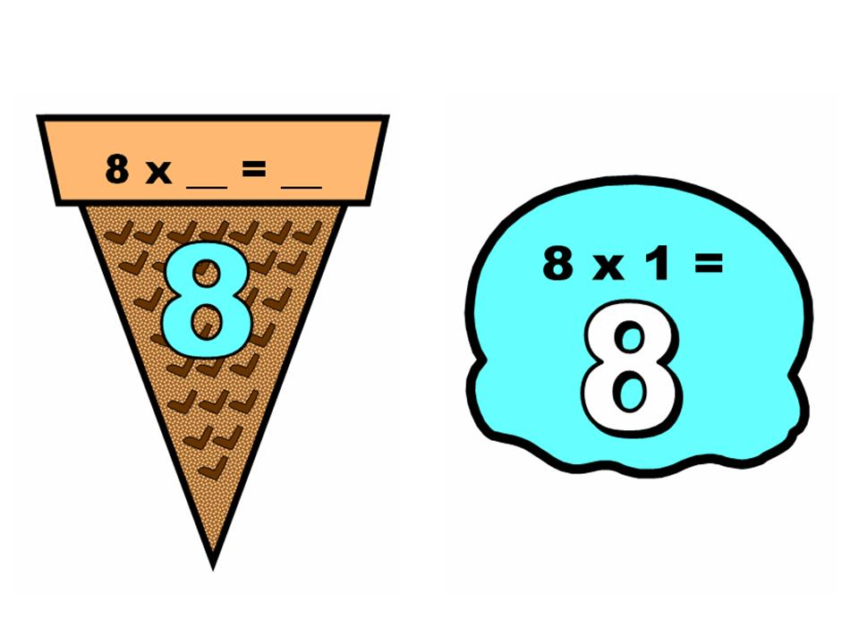 Math Multiplication 1-12 Ice Cream Scoops Display | Other Files ...