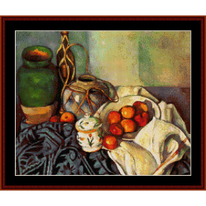 Still Life II - Cezanne cross stitch pattern by Cross Stitch Collectibles | Crafting | Cross-Stitch | Wall Hangings