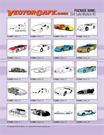 Dirt Late Models Vector Clip Art #2 | Other Files | Clip Art