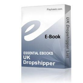 Uk Dropshipper List | eBooks | Business and Money