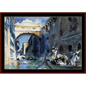 Bridge of Sighs - Sargent cross stitch pattern by Cross Stitch Collectibles | Crafting | Cross-Stitch | Wall Hangings