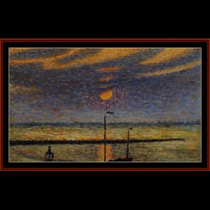 Clear Night Moon - Lemmen cross stitch pattern by Cross Stitch Collectibles   Crafting   Cross-Stitch   Wall Hangings