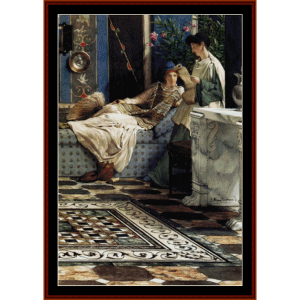 From an Absent One - Alma Tadema cross stitch pattern by Cross Stitch Collectibles | Crafting | Cross-Stitch | Other