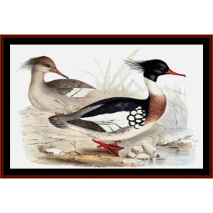 Red Breasted Merganser - Wildlife cross stitch pattern by Cross Stitch Collectibles | Crafting | Cross-Stitch | Wall Hangings