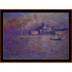 San Giorgio Maggiore - Monet cross stitch pattern by Cross Stitch Collectibles | Crafting | Cross-Stitch | Wall Hangings