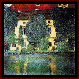 Schloss Kammer on the Attersee - Klimt cross stitch pattern by Cross Stitch Collectibles | Crafting | Cross-Stitch | Wall Hangings