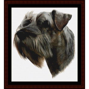 Schnauzer II - Robt. J. May cross stitch pattern by Cross Stitch Collectibles | Crafting | Cross-Stitch | Wall Hangings