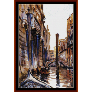 Side Canal in Venice - Sargent cross stitch pattern by Cross Stitch Collectibles | Crafting | Cross-Stitch | Wall Hangings