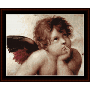 Sistine Madonna - Detail - Raphael cross stitch pattern by Cross Stitch Collectibles | Crafting | Cross-Stitch | Other