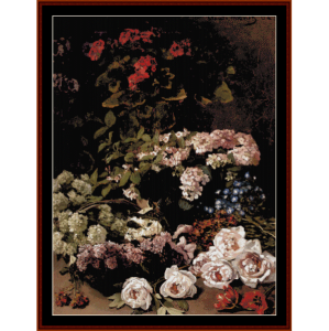 Spring Flowers - Monet cross stitch pattern by Cross Stitch Collectibles | Crafting | Cross-Stitch | Wall Hangings
