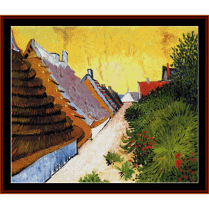 Street in Saintes-Maries - Van Gogh cross stitch pattern by Cross Stitch Collectibles | Crafting | Cross-Stitch | Wall Hangings