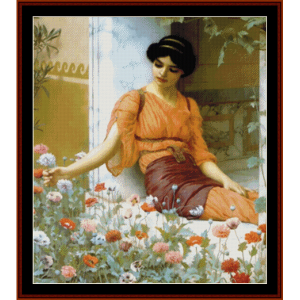 Summer Flowers - Godward cross stitch pattern by Cross Stitch Collectibles | Crafting | Cross-Stitch | Wall Hangings