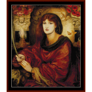 Sybilla Palmifella - Dante Rossetti cross stitch | Crafting | Cross-Stitch | Wall Hangings