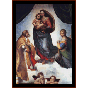 the sistine madonna - raphael cross stitch pattern by cross stitch collectibles