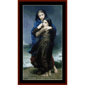 The Storm - Bouguereau cross stitch pattern by Cross Stitch Collectibles | Crafting | Cross-Stitch | Other