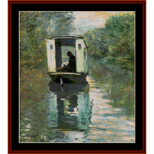 The Studio Boat - Monet cross stitch pattern by Cross Stitch Collectibles | Crafting | Cross-Stitch | Wall Hangings