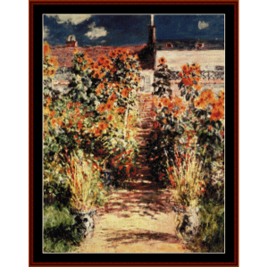 Steps at Vetheuil - Monet cross stitch pattern by Cross Stitch Collectibles | Crafting | Cross-Stitch | Wall Hangings