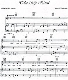 Sheet Music Take My Hand