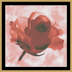 Pink Roses | Crafting | Cross-Stitch | Other