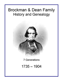 Brockman Dean Family History and Genealogy | eBooks | History