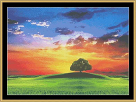 Rainbow Landscape | Crafting | Cross-Stitch | Other