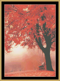 Autumn Bench | Crafting | Cross-Stitch | Other