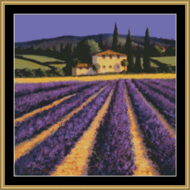 Lavender Villa | Crafting | Cross-Stitch | Other