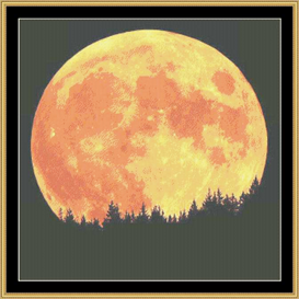 Blood Moon | Crafting | Cross-Stitch | Other