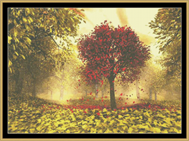 Falling Leaves | Crafting | Cross-Stitch | Other