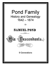 Pond Family History and Genealogy | eBooks | History
